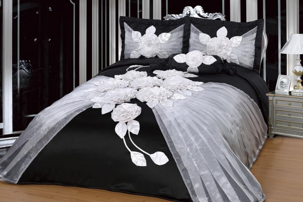 h lya braun blau bettdecke set 250 x 260 cm yuvam. Black Bedroom Furniture Sets. Home Design Ideas