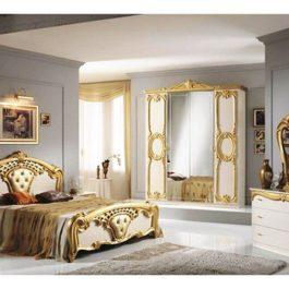FPM Cristina Beige-Gold 4-türig Klassische Schlafzimmer