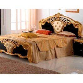 FPM Cristina Schwarz-Gold 4-türig Klassische Schlafzimmer