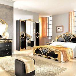 FPM Sara Schwarz-Gold Klassische Schlafzimmer