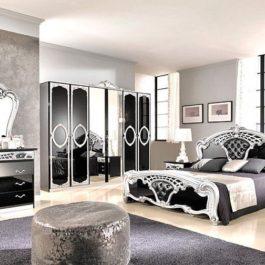 FPM Sara Schwarz-Silber Klassische Schlafzimmer