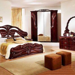 FPM Silvia Mahagoni 4-türig Klassische Schlafzimmer