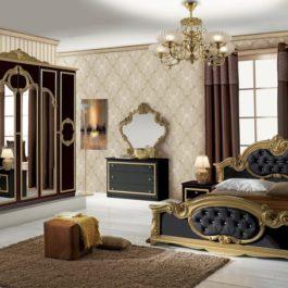 Barocco Klassische Schlafzimmer Schwarz-Gold-1