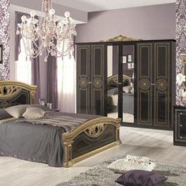 Giulia Schwarz-Gold klassische Schlafzimmer