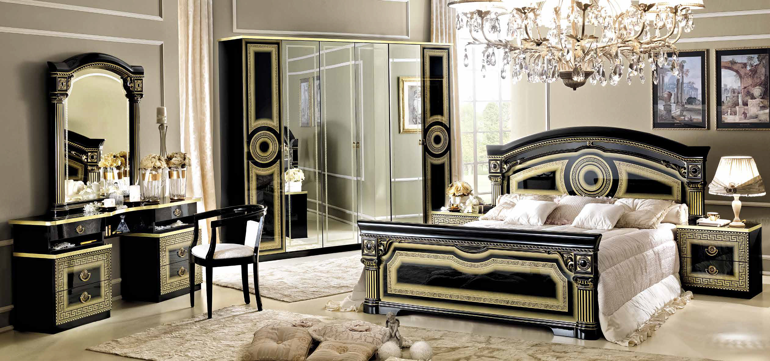 aida schwarz gold schlafzimmer yuvam m belhaus in. Black Bedroom Furniture Sets. Home Design Ideas