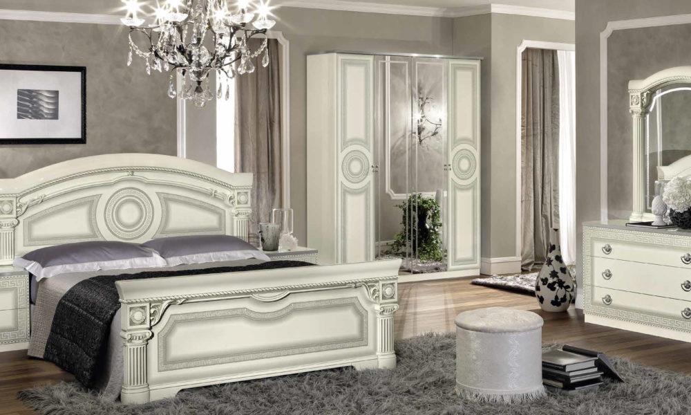 aida weiss silber schlafzimmer yuvam m belhaus in. Black Bedroom Furniture Sets. Home Design Ideas