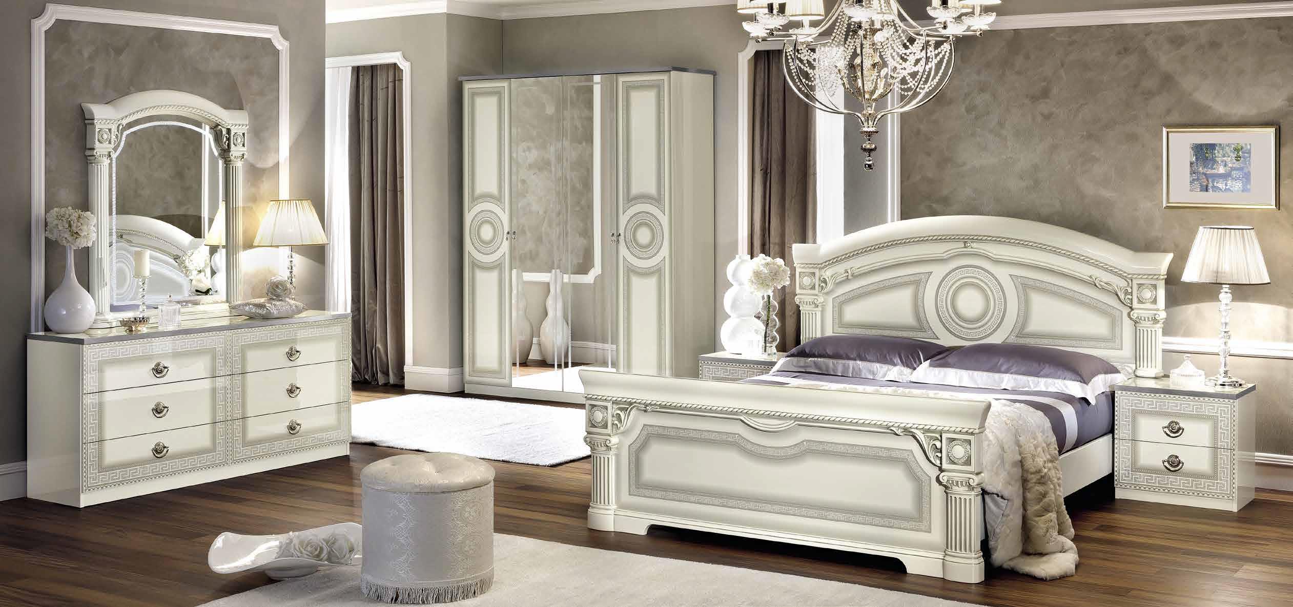 Schon Aida Weiss Silber Schlafzimmer
