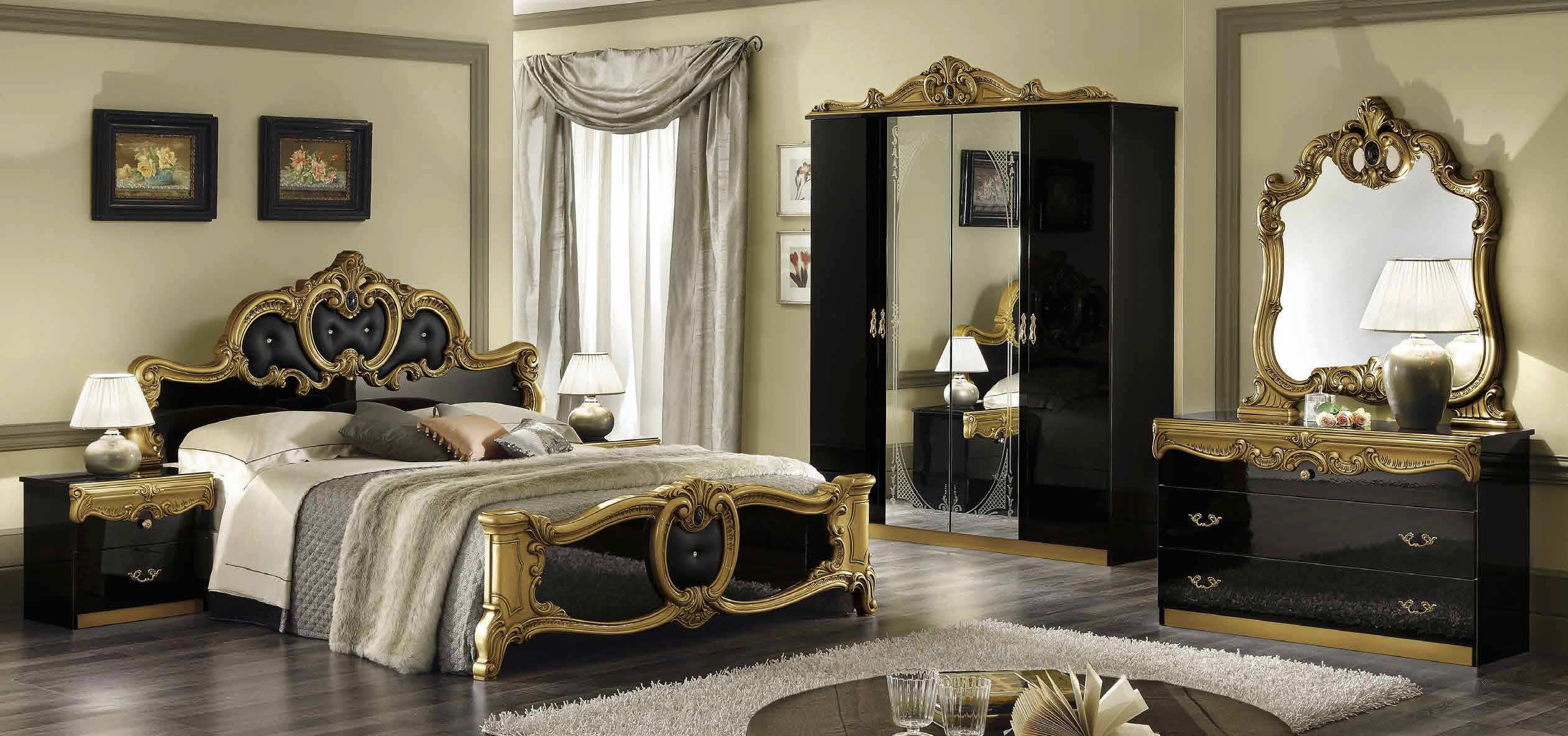 barocco schwarz gold schlafzimmer yuvam m belhaus in. Black Bedroom Furniture Sets. Home Design Ideas