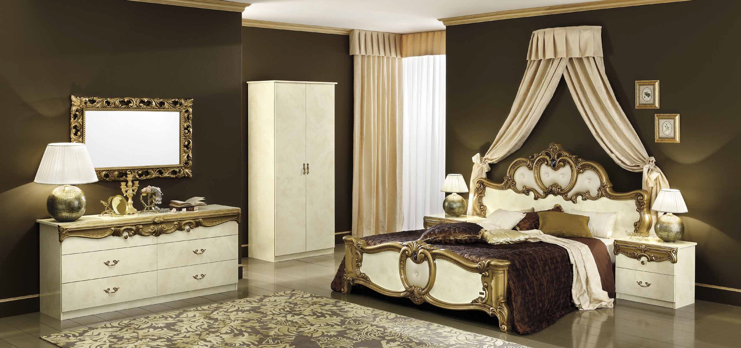 barocco ivory gold schlafzimmer - Schlafzimmer Gold