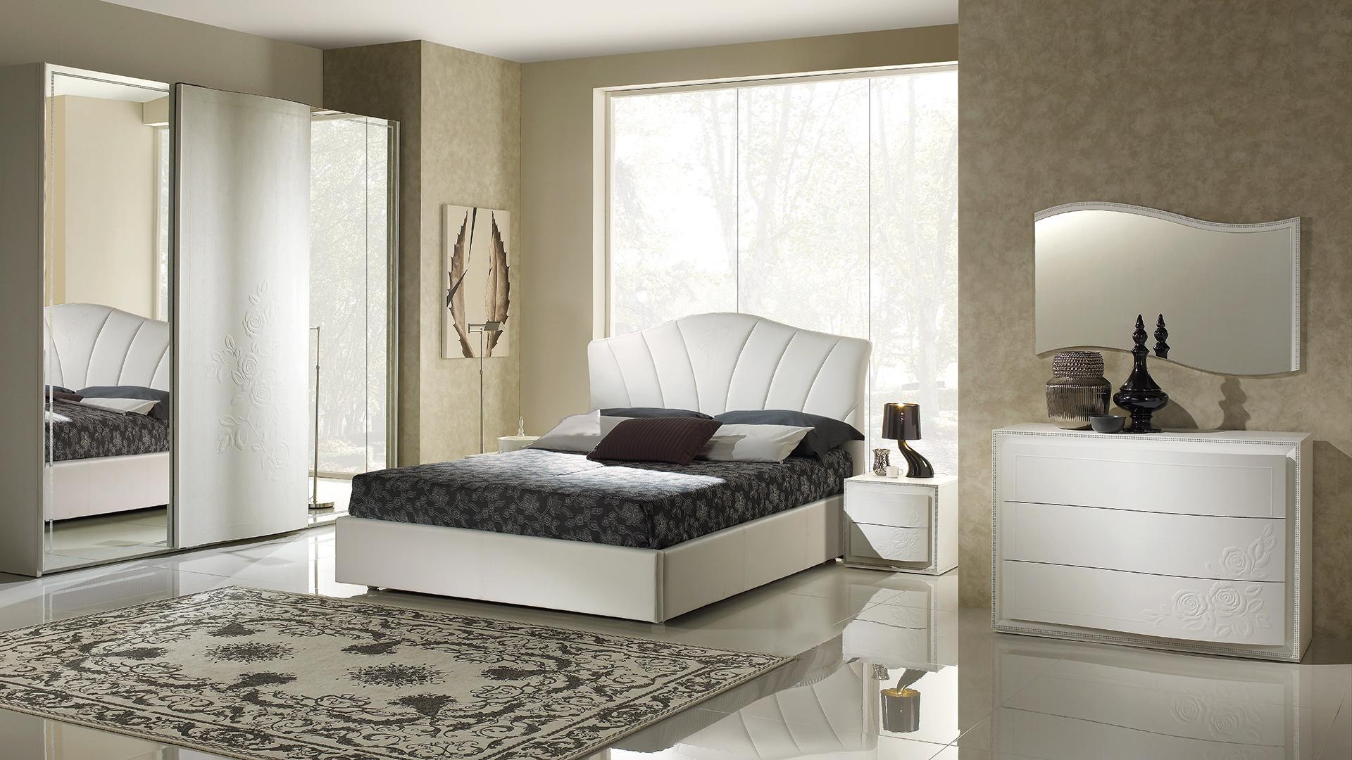 Chanel Weiss mit 3-trg Schwebetürenschrank Schlafzimmer – Yuvam ...