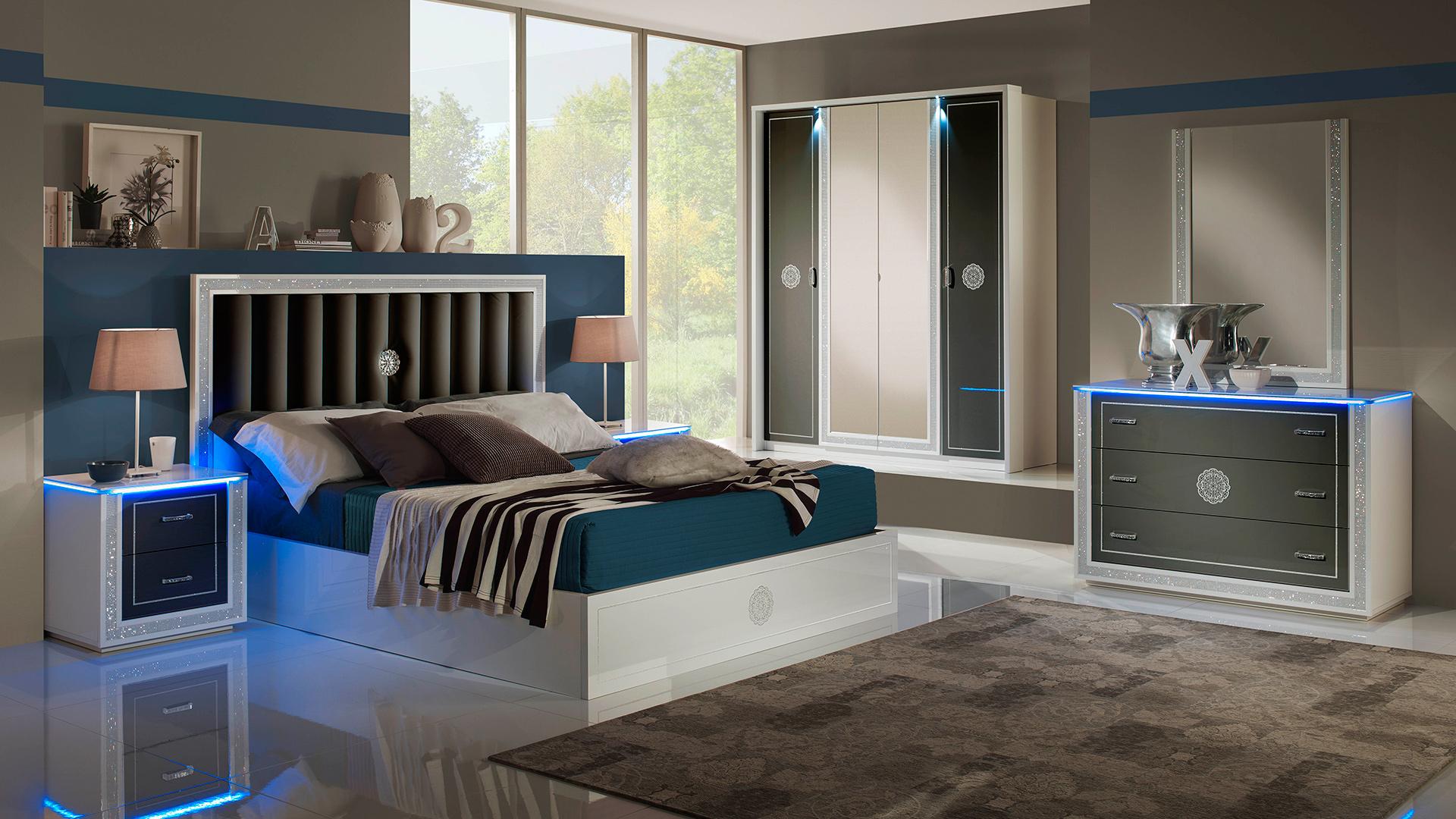Kleiderschrank Schlafzimmer | Cristal Weiss Mit 4 Trg Kleiderschrank Schlafzimmer Yuvam
