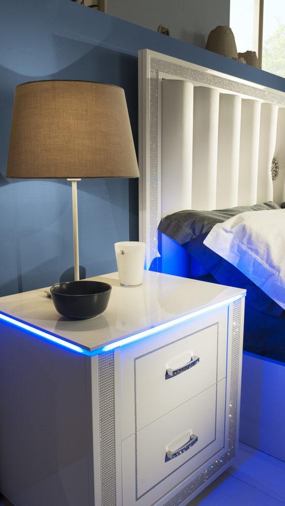 Cristal Weiss mit 6-trg Kleiderschrank Schlafzimmer – Yuvam ...