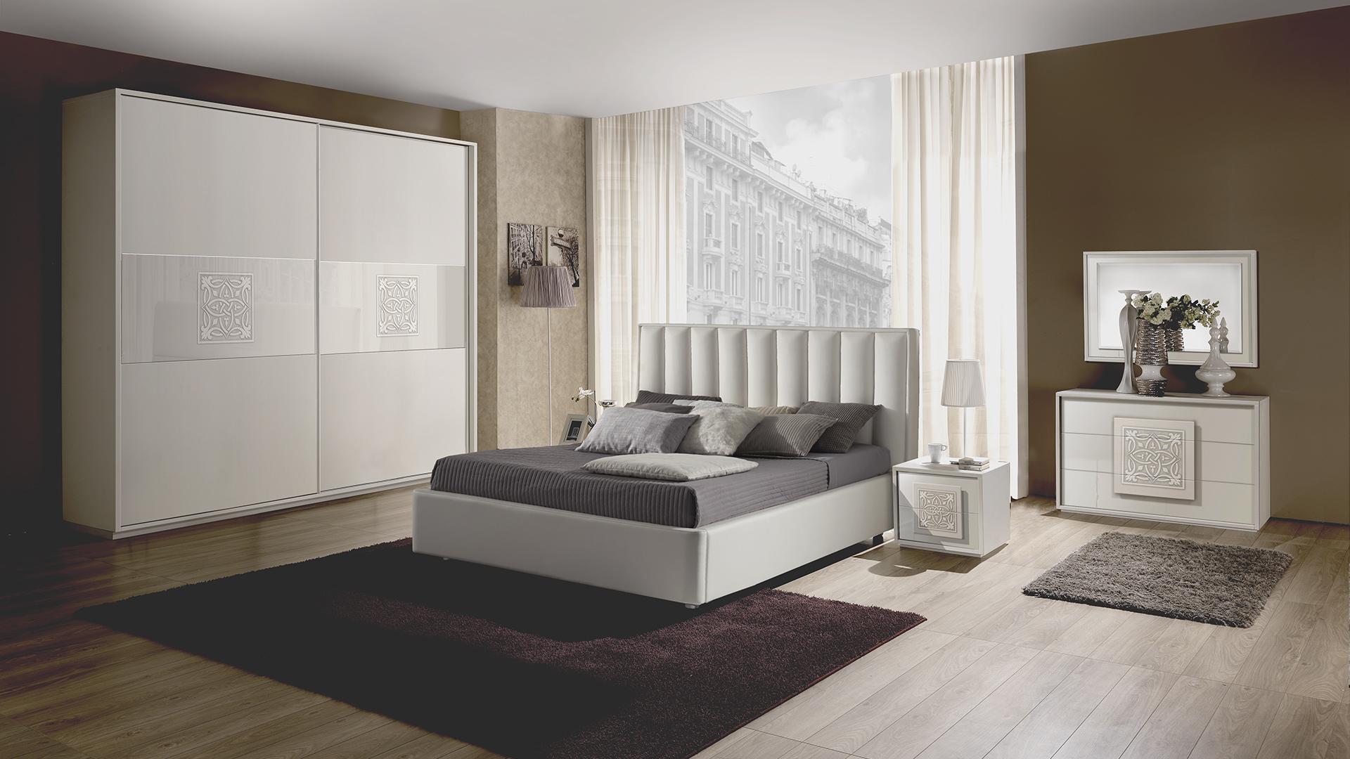 Dama Weiss mit 2-trg Schwebetürenschrank Schlafzimmer – Yuvam ...