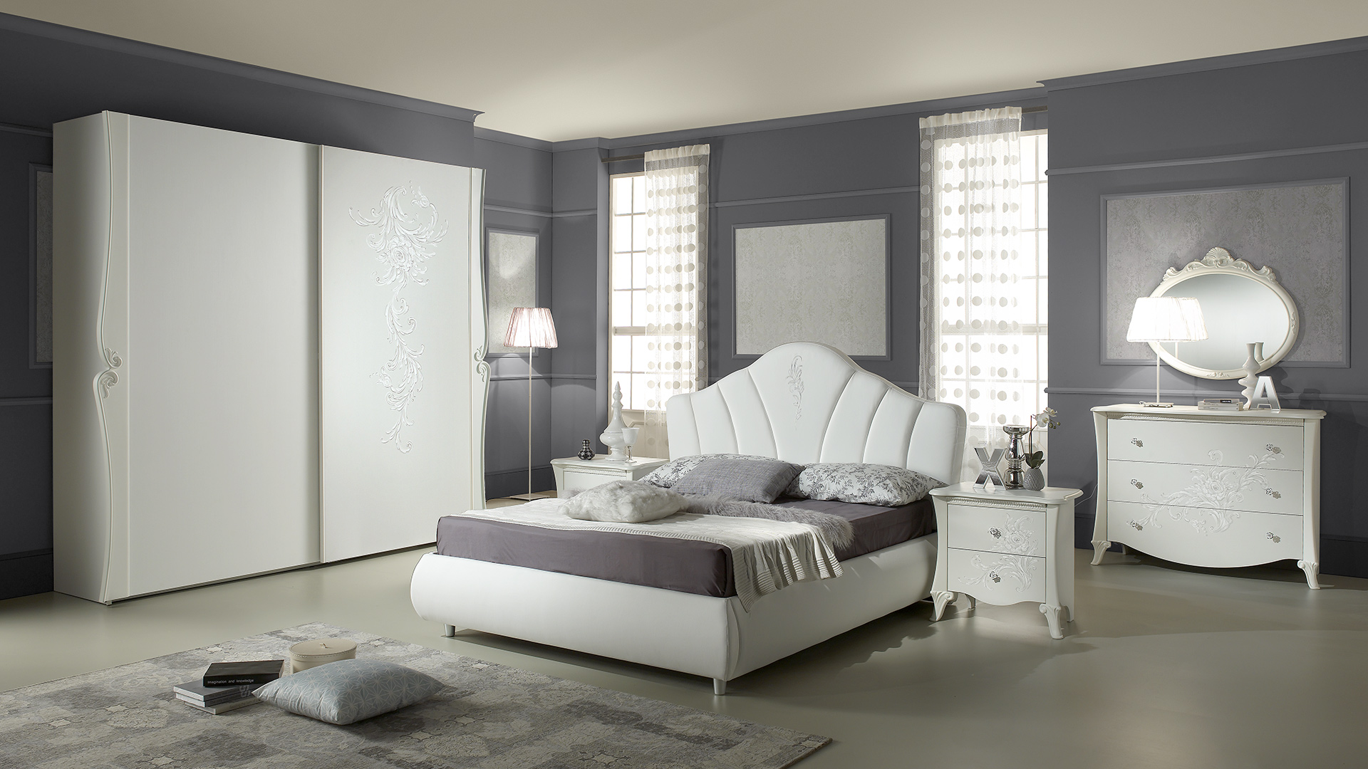 doris weiss mit 2 trg schwebet renschrank schlafzimmer. Black Bedroom Furniture Sets. Home Design Ideas