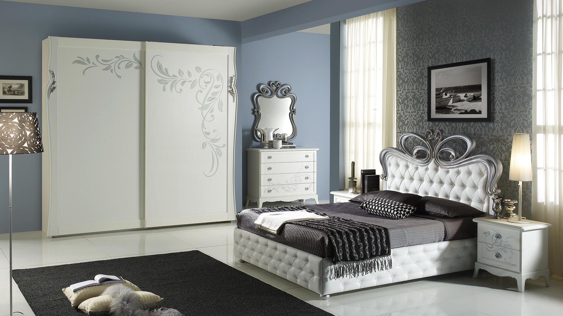 Perla Weiss mit 2-trg Schwebetürenschrank Schlafzimmer – Yuvam ...