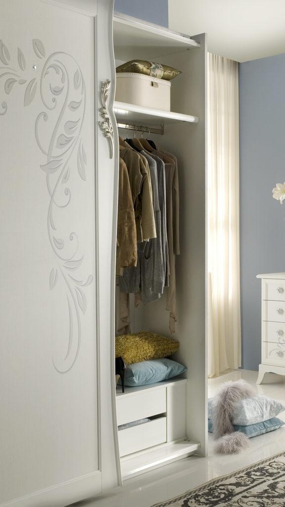 Perla Weiss mit 2-trg Schwebetürenschrank Schlafzimmer ...