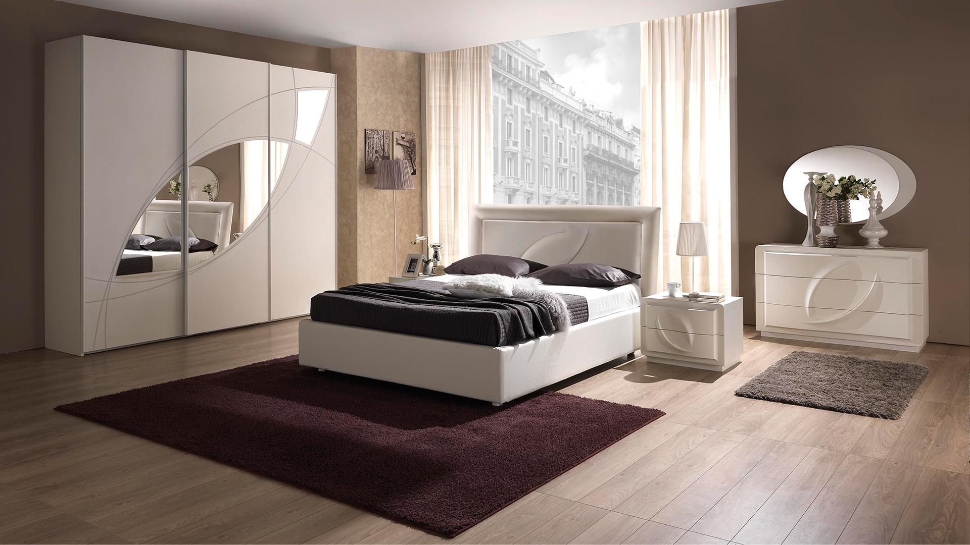 Trevi Weiss mit 3-trg Schwebetürenschrank Schlafzimmer – Yuvam ...